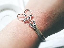 Silver Scissors Bracelet Silver Scissors Seamstress Bracelet Hairdresser... - $27.00