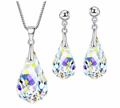 Swarovski Elements Crystal Jewelry Set Bridal Jewelry Set Jewellery Pend... - $69.28