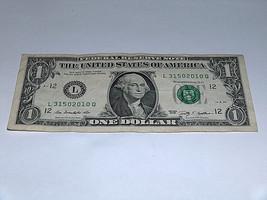 2009 $1 Dollar Bill US Bank Note Year Date Birthday 3150 2010 Fancy Mone... - $12.68