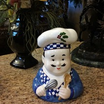 The Cellar Large Vintage Ceramic French or Italian Bistro Chef Cookie Ja... - $41.97