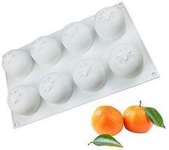 OCPO Silicone Molds for Baking 3D Orange Mold Silicone Mousse Cake Fonda... - $15.61