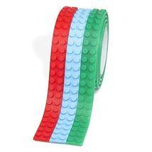(3 Pack) Brick Tape - Self Adhesive Peel & Stick Building Block Tape - $14.84