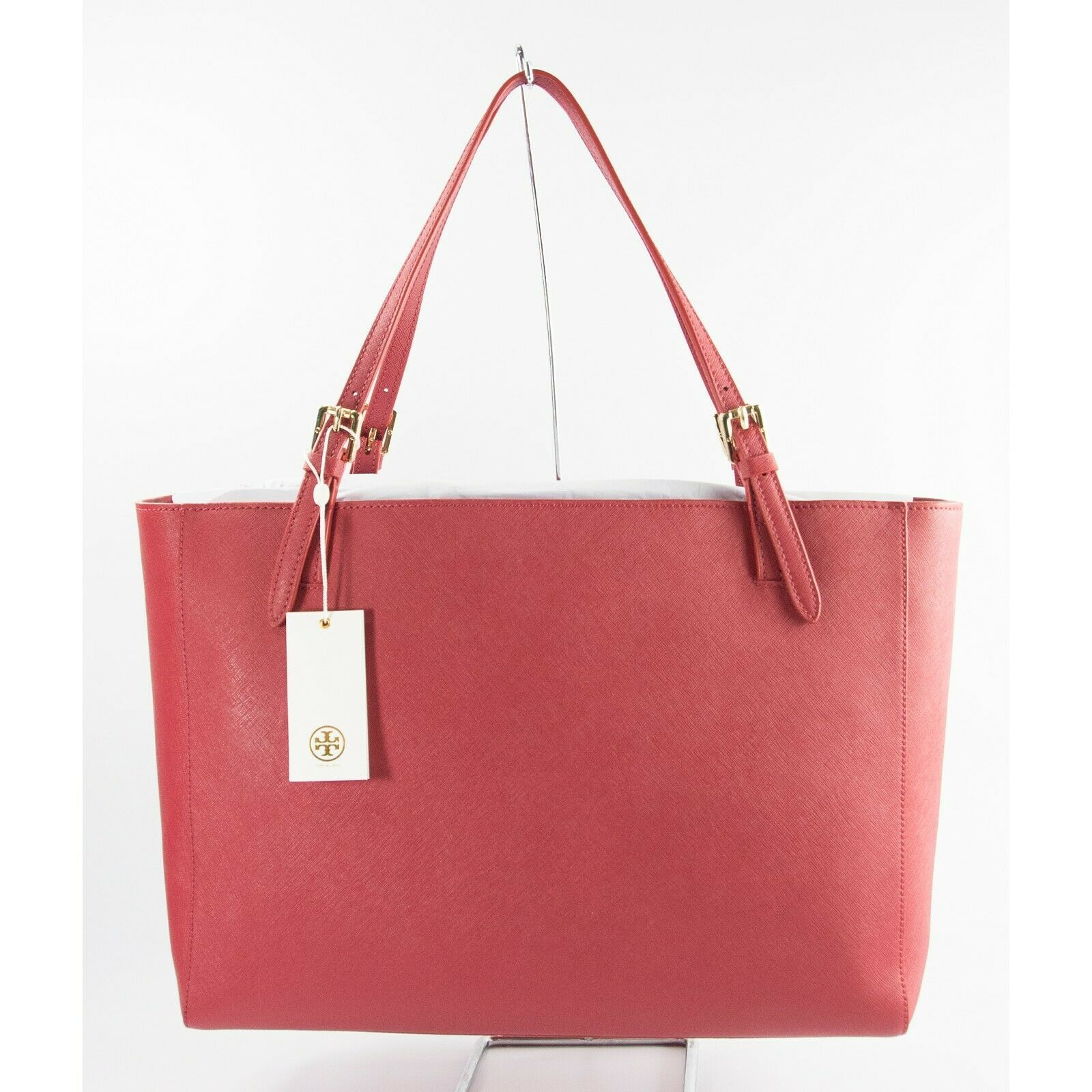 Tory Burch Robinson Kir Royal Red Saffiano Leather York Buckle Tote Bag NWT image 2