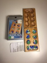 Mancala Solid Wood Board Game by Cardinal. Exc Cond- Ships fast! - $11.29