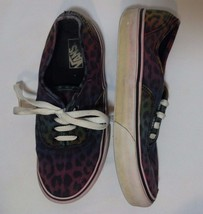 VANS Off the Wall Colorful Animal Print Big Kids Size 3 Canvas Sneakers ... - $23.69