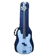 FENDER SQUIER AFFINITY P BASS GUITAR - WHITE (CMP047642) with Case - $190.00