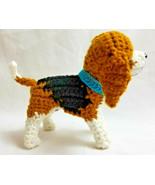 Amigurumi Beagle Hound Breed Puppy Dog Crochet Handmade Figurines Bren - $39.95
