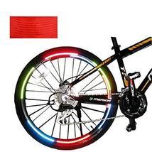 [RED]Unique Colour 6 Pics Reflective Bike Rim Sticker Wheel Decal Sticker