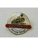 Vintage Metal Enamel Durango Silverton Colorado Narrow Gauge Pin Button - $11.35