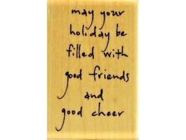 """Penny Black-Wood Mounted Rubber Stamp-""""Good Friends""""-3276F image 1"""