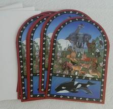 7 Jennifer St Denis Sunrise Noahs Two by Two Christmas Greeting Cards En... - $9.99