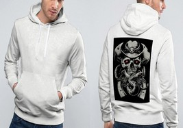 The Punisher Cow Boy Classic Hoodie Men  White - $39.99