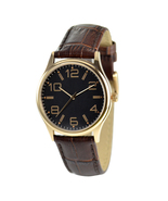 Minimalist Watches Rose Gold Numerals in Black Face for Men Watch for Women - $36.00