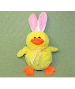 "12"" EASTER DUCK CHICK STUFFED ANIMAL WITH BUNNY EARS INTER AMERICAN PROD... - $14.85"