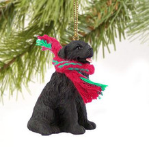 NEWFOUNDLAND DOG CHRISTMAS ORNAMENT HOLIDAY  Figurine gift - $9.50