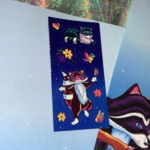 Lisa Frank Stationery RACCOON Racoon Family 2 Sheets One Full Sticker Mod image 2