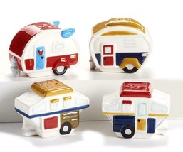 Camper Design Salt & Pepper Set Camping RV Travel Ceramic