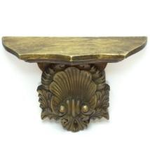 Antique Vintage Victorian Style Ornate Oak Wood Hand Carved Wall Shelf  - $123.72