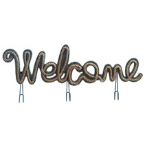 #10018177 *3-Hook Rope Welcome Sign Decor* - $17.86