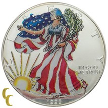 1999 Painted Walking Liberty Silver 1 oz American Eagle $1 w/ Box Uncirculated - $39.59