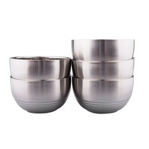 IMEEA 5-Piece Double-deck Brushed SUS304 Stainless Steel BPA Free Servin... - $29.50