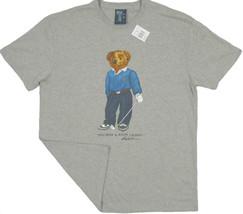 NEW!  Polo Ralph Lauren Golfer Bear T Shirt!   *Gray*  *Medium* (Golf, Golfing) - $79.99