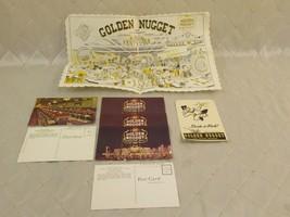 Golden Nugget Casino Placemat Postcards & Decals Las Vegas Fremont 1950s - $27.08