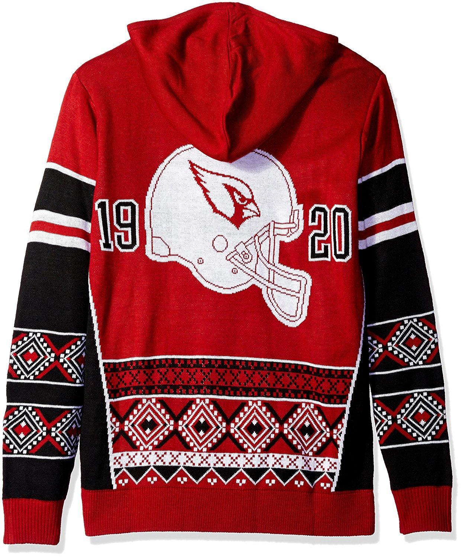 NFL Klew Arizona Cardinals Big Logo Hooded Sweater