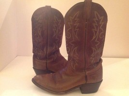 Dan Post Mens Brown Leather Cowboy Western Boots 16991 9.5 EW Men Rugged - $70.23