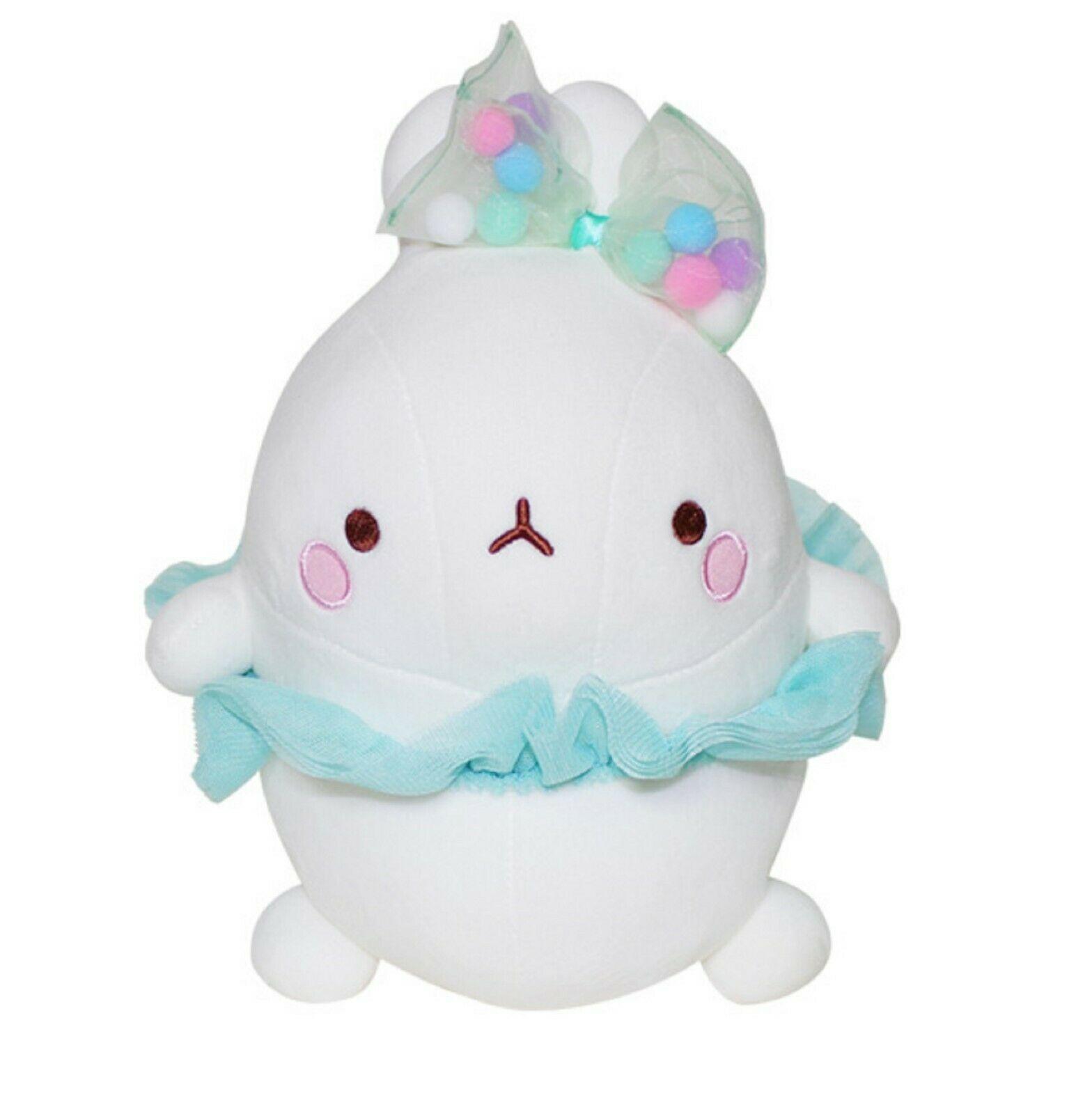"Molang Ballerina Ballet Costume Rabbit Stuffed Animal Plush Pet Toy Cushion 9.8"""
