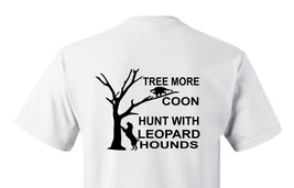 T-shirt Shirt Hound Dog Coon Hunter Raccoon Cost Coon Hunting Tree More Leopard - $10.99+