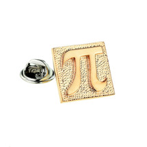 Rose Gold Pi Stamp Design gold  finish tie pin, Lapel Pin Badge, in gift box