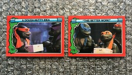 1991 Topps Teenage Mutant Ninja Turtles TMNT II Movie Cards Lot: #70 & #73 - $3.92