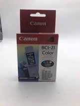 New Genuine Canon BCI-21 Tri-Color Ink Cartridge - $7.43