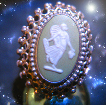 HAUNTED ANTIQUE ANGEL RING ANGELIC ABUNDANCE & CLEAR PATHS HIGHEST LIGHT MAGICK - $40,151.11