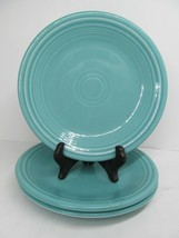 "Homer Laughlin Fiesta 7 1/4"" Green Salad Side Plates Set Of 3 Plates Nice - $24.50"