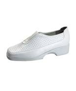 24 HOUR COMFORT Tatum Women's Wide Width Leather Slip-On Shoes - $39.95