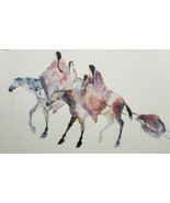 Carol Grigg Native American Indian Women on Horse Art Poster Print Gango... - $346.49