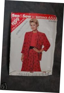 Primary image for Butterick Pattern #6523 Misses' Jacket,Top & Skirt sz(16-24)