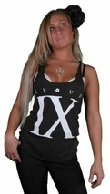 TITS Cloud IX 9 Black & White Racerback Cotton Blend Tank Top Sleeveless Shirt