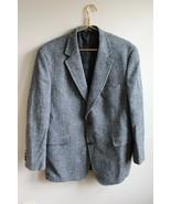 Jos A Bank 44 Reg Harris Tweed 100% Wool Herringbone 2-Button Blazer Jacket - $41.33
