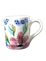 Royal Norfolk Floral Coffee Tea Mug Cup Watercolor Leaves Blue Green Pink - $5.33