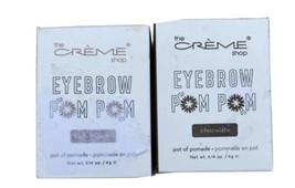 The Crème Shop Eyebrow Pom Pom X2 Ash Brown Chocolate .14oz No Budge No ... - $13.49