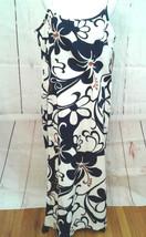 Hilo Hattie Womens Cotton Spaghetti Strap Blue White Floral Long Maxi Dress 18 - $43.31