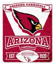 Arizona Cardinals Blanket Fleece Throw By Northwest Marquee Series Nwt - $18.65