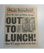 New York Post July 21 1993 Dinkins Brown Out to Lunch Pass a buck to FED... - $39.99