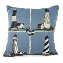 Lighthouse Tapestry Throw Pillow 16 x 16 Inches Riverside Decorative Mad... - $18.63