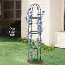 6-Ft. Elegant Green Finish Metal Trellis Plants Flower Outdoor Garden Ya... - $29.70