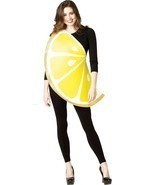 Lemon Slice Womens Costume Adult Fruit Food Yellow White Halloween Uniqu... - $48.99