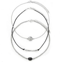 3Pcs Set Unique Vintage Silver Necklace Fashion Brand Maxi Choker Necklace - $10.99